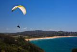 Paraglider over Mona Vale Beach