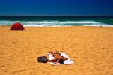 Sunbaker on Warriewood Beach