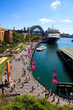 West Circular Quay with Queen Victoria moored at International Passenger Terminal