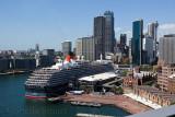 Queen Victoria cruiseliner moored at International Passenger Terminal