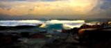 Avalon Beach panorama watercolour
