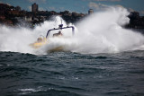 Tourist jetboat on Sydney Harbour
