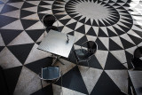 Tables and chairs from above