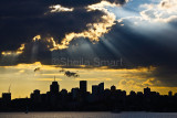 North Sydney sunset with jacobs ladder