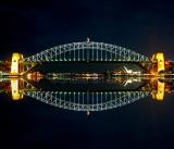 Sydney Harbour Bridge night reflection