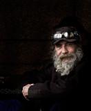 Homeless man with sunnies