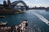 Sydney Harbour Bridge and photographers