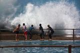 Kids having fun at North Curl Curl