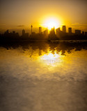 Sydney Harbour sunset reflection abstract