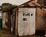 Beware of dog at Milton