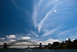 Sydney Harbour with cirrus clouds
