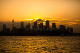 Sydney sunset skyline