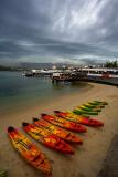 Kayaks on Manly beach
