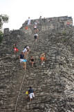 The climb up the Coba ruins
