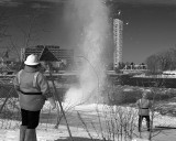 Ice Blasting on the Rideau River