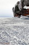 Ice Cave Lake Patterns