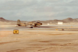 Strikemaster landing at Masirah