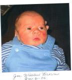 Joe William  (Bill and Martha's grandson, Rebecca's son)