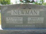 W.P. Newman     b. 6, 1872      d. July 9, 1961               Minnie C b. Nov 28, 1877 d. June 5, 1955   We have kept the faith