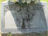 Girtie Riddle Ridenour Feb 24, 1921 Dec 16, 1961