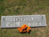 John E.         Aug 31, 1877 Nov 18, 1964   Elvinia Thomas Jan 23, 1907 Jan 23, 1992