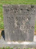 infant son of Mr & Mrs G. T. Jefferson Sept 13, 1940