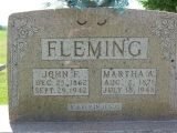 John F Dec 25, 1862 Sept 29, 1942  Martha A. Aug 2, 1871 July 18, 1948  A Sleep in Jesus