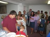 hungry people waiting in line