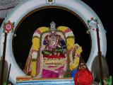 Mylapore - Madhavaperumal devashanam - Peyazhwar doing gnyanopadesam to thirumazhisai piran.jpg