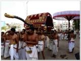 2-Udayavar 2nd day thiruveedhi purappadu with vEda gOshti.jpg