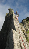 Commando ridge, Bosigran, Cornwall- On the arete