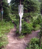 Fork in the trail ha ha