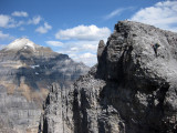 Scrambling-with Mt Temple behind