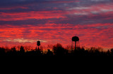 Sunrise & Double Water Towers
