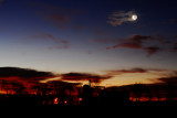 Crescent Moon with Clouds