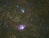 Messier 8 Region of Milky Way