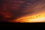September Storm Anvil Sunset