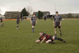 Try machine, Phil Gray, leaves mesmerised defence standing with his unstoppable 2 yard dash to the line