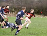 Rob Murray on his way to the tryline