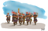 The Fire Department Bagpipers at the Memorial Day Parade