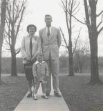 Steve Cavanah with Mom and Dad. 1954