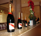 and displays of the champagne