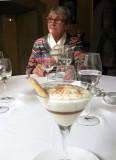 Jacqueline & dessert of Irish whiskey