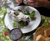 Goat cheese en papillote