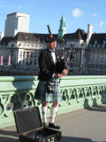 Bagpipes on Westminster Bridge