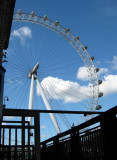 The London Eye, a very tall observation wheel