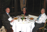 Dinner at the Gran Paradiso restaurant after the Francis Bacon exhibit