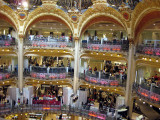 The Galeries Lafayette with its