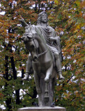 Statue of Louis XIII in the Place des Vosges