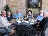 Dinner on the terrace of The Parlour Historic Inn
